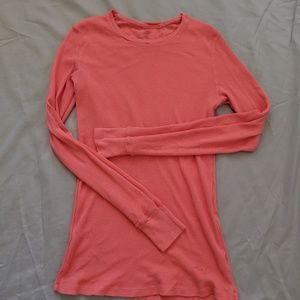 Coral GAP Waffle-Knit Shirt
